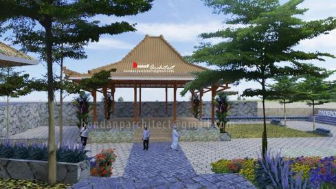 Pendopo dan Taman Pondok Pesantren Darush Sholihin – Panggang Gunungkidul